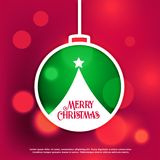 Merry christmas design background with bokeh effect Royalty Free Stock Photos