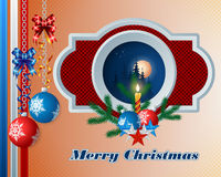 Merry Christmas, design background with Christmas balls Royalty Free Stock Photography