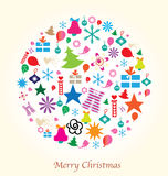 Merry Christmas Design elements Stock Photography