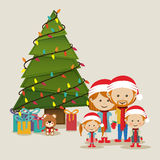 Merry christmas design Stock Photos
