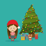 Merry christmas design Stock Images