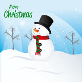 Merry christmas design over landscape background vector illustra Royalty Free Stock Photos