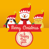 Merry christmas design Royalty Free Stock Image