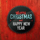 Merry Christmas Design On Red Planks Texture Stock Photos