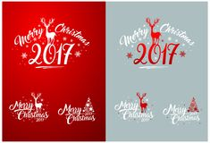 Merry Christmas Design Set Stock Image