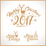 Merry Christmas Design Set Royalty Free Stock Photography