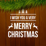 Merry Christmas design typography lettering Royalty Free Stock Image