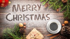 Merry Christmas Desk Animated Message 4K
