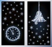 Merry Christmas diamond banners Royalty Free Stock Image