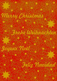 Merry Christmas in 4 different languages Royalty Free Stock Images