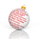Merry Christmas in different languages Royalty Free Stock Image