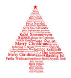 Merry Christmas in different languages Royalty Free Stock Photo