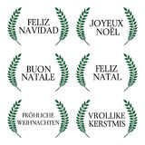 Merry Christmas in Different Languages 1 Royalty Free Stock Photo