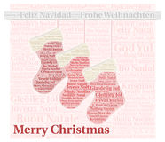 Merry Christmas in different languages Stock Image