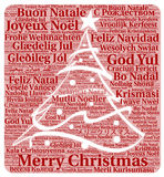 Merry Christmas in different languages word cloud Stock Image