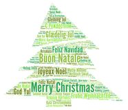 Merry Christmas in different languages word cloud. Illustration Stock Photography