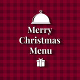 Merry Christmas Dinner Menu card Royalty Free Stock Photography