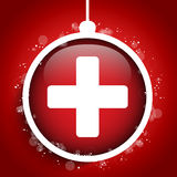 Merry Christmas Doctor Hospital Cross Ball. Vector - Merry Christmas Doctor Hospital Cross Ball Stock Image