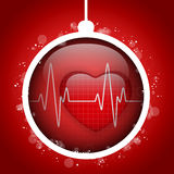 Merry Christmas Doctor Hospital Heart Ball. Vector - Merry Christmas Doctor Hospital Heart Ball Royalty Free Stock Photography