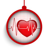 Merry Christmas Doctor Hospital Heart Ball Royalty Free Stock Photos