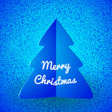 Merry Christmas doodle seamless pattern Stock Image
