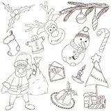 Merry Christmas Doodles Royalty Free Stock Image