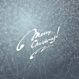 Merry Christmas Easy background with snowflakes and inscription. Stock Photography
