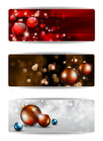 Merry Christmas Elegant Banners Royalty Free Stock Photography