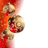 Merry Christmas Elegant Card. Stock Photos