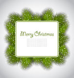 Merry Christmas elegant card with fir branches Royalty Free Stock Images