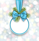 Merry Christmas Elegant Card Royalty Free Stock Photos