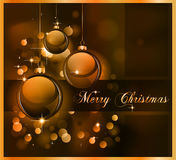 Merry Christmas Elegant Suggestive Background. For Greetings Card Stock Image