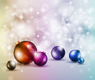 Merry Christmas Elegant Suggestive Background. For Greetings Card with glitter lights and stunning baubles Royalty Free Stock Photography