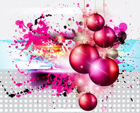 Merry Christmas Elegant Suggestive Background. For Greetings Card with glitter lights and stunning baubles Royalty Free Stock Photos
