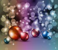 Merry Christmas Elegant Suggestive Background. For Greetings Card with glitters and high contrast colours Royalty Free Stock Images