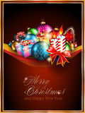 Merry Christmas Elegant Suggestive Background. For Greetings Card Stock Photography