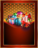 Merry Christmas Elegant Suggestive Background. For Greetings Card Stock Photo