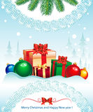 Merry Christmas Elegant Suggestive Background Royalty Free Stock Image
