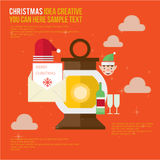 Merry Christmas Element Day Theme Set Royalty Free Stock Image