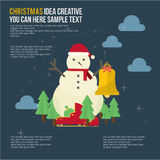 Merry Christmas Element Day Theme Set Royalty Free Stock Photography