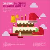 Merry Christmas Element Day Theme Set Stock Image