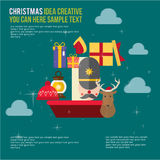 Merry Christmas Element Day Theme Set Royalty Free Stock Images