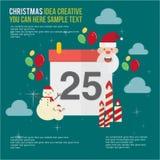 Merry Christmas Element Day Theme Set Royalty Free Stock Photo