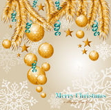 Merry Christmas elements background EPS10 vector f Royalty Free Stock Photography