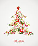 Merry Christmas elements decoration tree. Stock Images