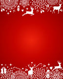Merry Christmas elements red postcard template vector file. Royalty Free Stock Photography