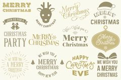 Merry Christmas elements set Royalty Free Stock Photography