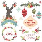Merry Christmas Elements Stock Photo
