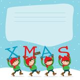 Merry Christmas Elf´s Royalty Free Stock Image