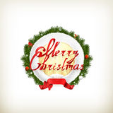 Merry Christmas emblem stock illustration